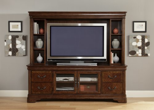 Cheap LIBERTY ALEXANDRIA ENTERTAINMENT CENTER TV STAND & HUTCH AUTUMN BROWN NEW (722-ENT)