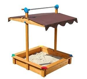gaspo 310436 sandkasten felix mit dachlift spielzeug. Black Bedroom Furniture Sets. Home Design Ideas