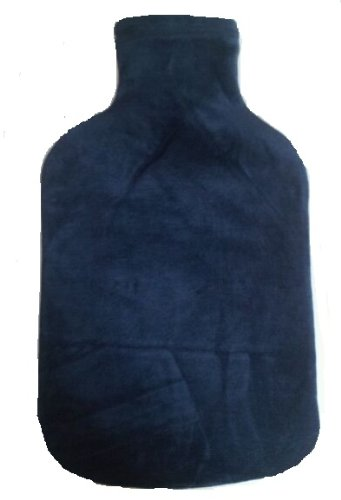 Warm Tradition Tropical Teal Velour Covered Hot Water Bottle - Bottle Made In Germany, Cover Made In Usa