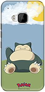The Racoon Lean printed designer hard back mobile phone case cover for HTC One M9. (wild snorl)