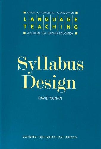 Syllabus Design (Language Teaching, a Scheme for Teacher...