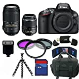 Nikon D5100 SLR Camera + 18-55mm + 55-300mm 32GB Deluxe Lens Packageby Nikon