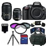 Nikon D5100 SLR Camera + 18-55mm + 55-300mm 32GB Deluxe Lens Packageby Nikon