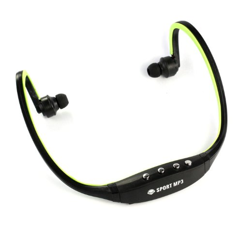 Sannysis2008 Sport Black/Green Wireless Headphones Music Mp3 Player Tf Card Fm Radio Headset