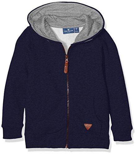 TOM TAILOR Kids Hooded Sweat Jacket, Cappuccio Bambino, Blu (True Dark Blue), 7 Anni (Taglia Produttore: 116/122)