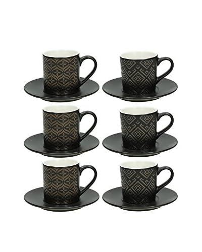 Tognana Kit de Tazas Espresso con Platos 12 Piezas Relief
