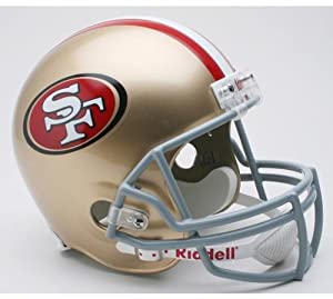 NFL San Francisco 49ers Deluxe Replica Football Helmet by Riddell
