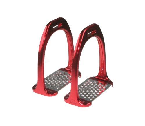 Steigbügel, Aluminiumsteigbügel, rot