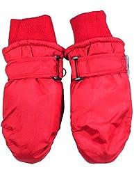 Winter Warm-Up - Little Boys Ski Mittens, Red 33070-onesize