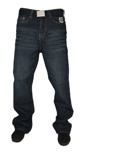 New Mens Mid Used FORGE BY KAM Designer Boot Cut Jeans W36 L30