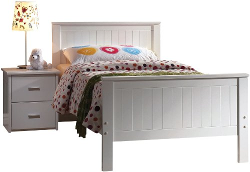 ACME 30025T Bungalow Bed, Twin, White