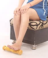 """Wooden Foot Acupressure Massager Pointed Spiked Single Roller 12"""" from Super India Store"""