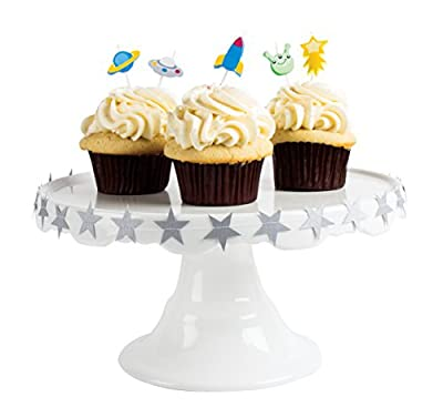 Party Partners Candid Candles Shaped Cake Decoration, Birthday Blast Off