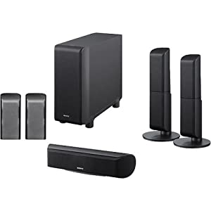 Sony SA-VS150H 5.1/7.1-Channel Speaker Package (Black)