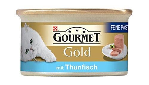 Gourmet-Gold-Katzenfutter-Feine-Pastete-mit-Thunfisch-12er-Pack-12-x-85-g-Dosen