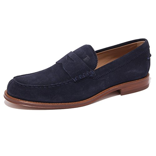 4236Q mocassino uomo TOD'S scarpa blue suede shoe men [9.5]
