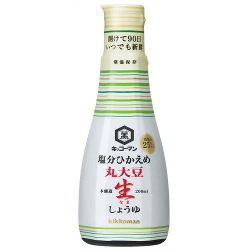 キッコーマン 塩分ひかえめ 丸大豆生しょうゆ 200ml