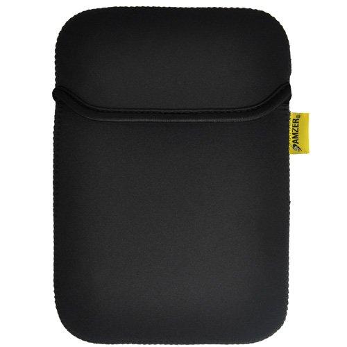 Imagen de Caso de la cubierta de 10 pulgadas funda de neopreno Amzer con Pocket para las tabletas, libros electrónicos y Netbooks - Matt Negro / Leaf Green (AMZ90807)