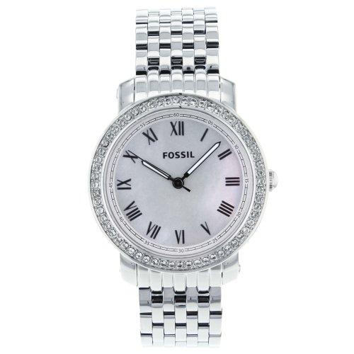 Fossil ES3114 - Reloj para mujeres, correa de acero inoxidable color plateado