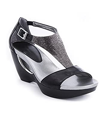 Amazon Com Andrew Geller Women S Arana Wedge Sandal Shoes