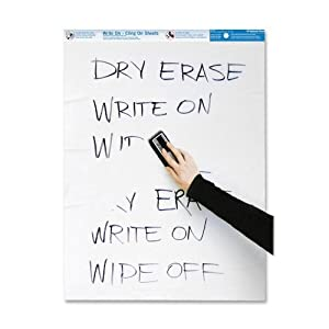 National Brand Write On, Cling On Easel Pad, Unruled
