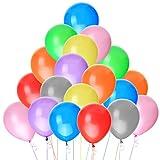 Luftballons-NUOLUX 100 Luftballons Metallic Buntmix 10' 26cm [Spielzeug]