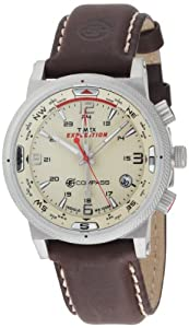 Timex Men's T49818 Expedition E-Compass Analog Stainless Steel Case Brown Strap Watch
