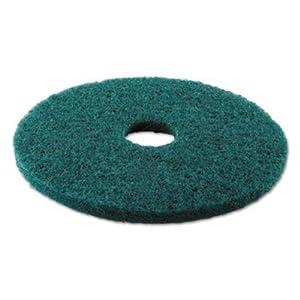 """Boardwalk PAD 4017 GRE BWK4017GRE Standard 17"""" Diameter Heavy-Duty Scrubbing Floor Pads, Green (Pack of 5)"""
