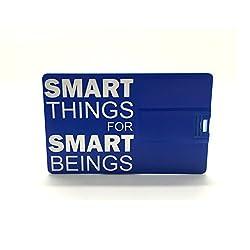 8GB FANCY DESIGNER CREDIT CARD SHAPED PENDRIVE - BLUE