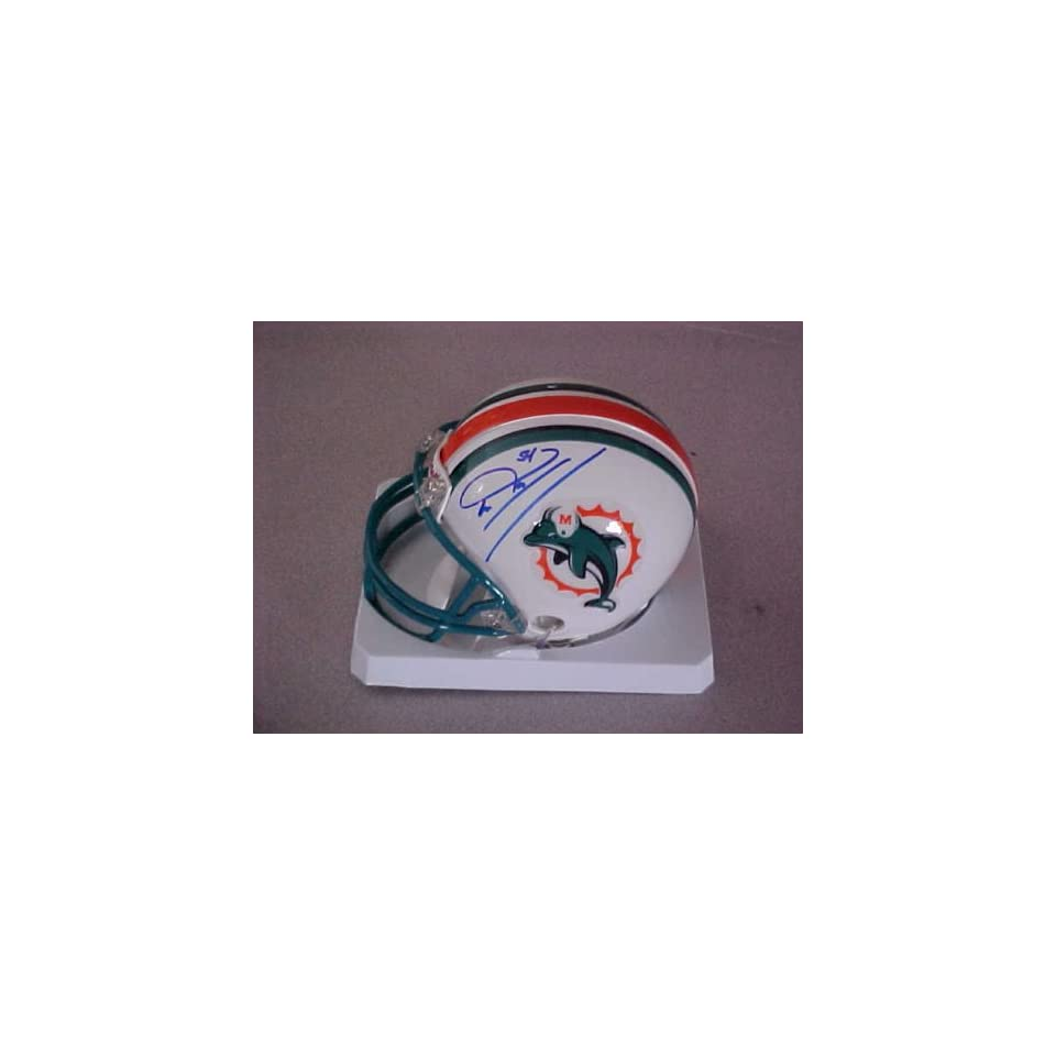 Zach Thomas Hand Signed Autographed Miami Dolphins Football Riddell