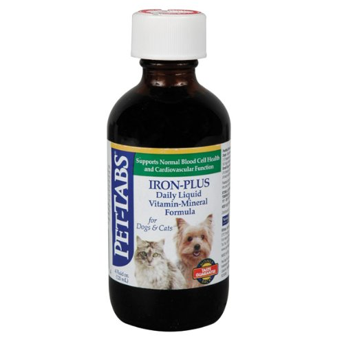 Pet-Tabs Iron Plus for Dogs and Cats - 4 ounce bottle