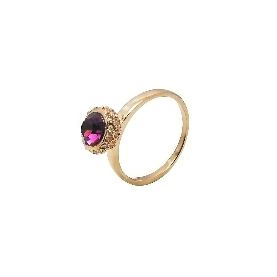 High end Amethyst Ring in Rose Gold Plated Engagement/anniversary/wedding Band (6)