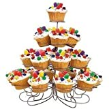 Luzy's Light-weight Tiered Metal Dessert and Cupcake Stand (23-Cup 4-Tier)