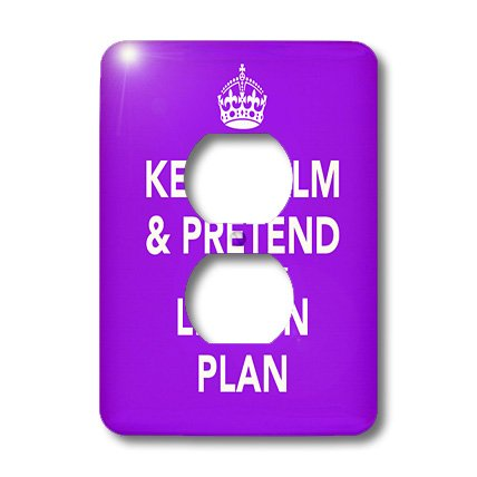 lsp_149838_6 EvaDane - Funny Quotes - Keep calm and pretend it's on the lesson plan - Light Switch Covers - 2 plug outlet cover