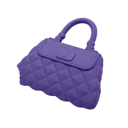 Jellystone Designs Handbag Silicone Teether - Delilah Purple - 1