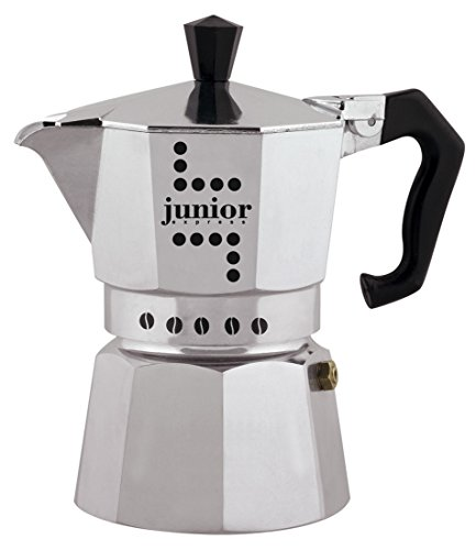 Bialetti Junior Caffettiera, 6 Tazze, Alluminio