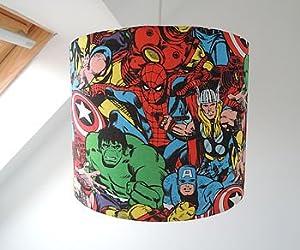 Handmade Superhero Lampshade