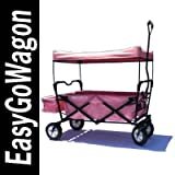 Childrens Pull Along Wagon. Unique Folding Design is more portable than Red Flyer. Fits in trunk of standard car. Made by EasyGoWagon.