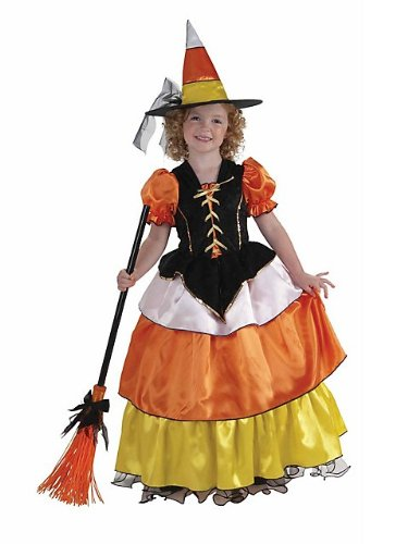 Little Designer Collection Candy Corn Witch Child Costume, Large
