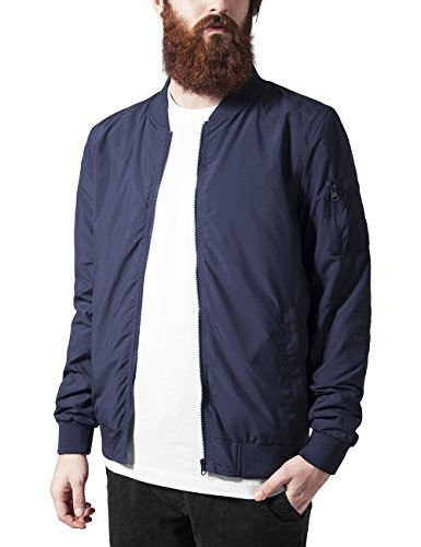 Urban Classics Light Bomber Jacket, Giacca Uomo, Blau (Navy 155), Medium