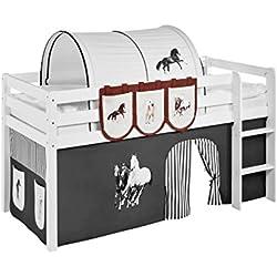 Lilokids Hängetaschen Pferde Braun Beige - für Hochbett, Spielbett und Etagenbett