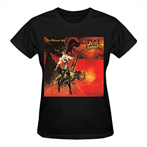 Abover Ozzy Osbourne The Ultimate Sin T Shirts For Women Funny Crew Neck Black