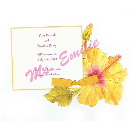 Hibiscus Die-Cut Card, Pack Of 10 front-947543