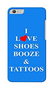 CimaCase Love Shoes, Booze & Tattoos Designer 3D Printed Case Cover For Micromax Canvas Knight 2 E471