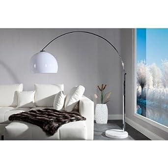 Neofurn - STUDIO - design bow floor lamp white shade adjustable arch