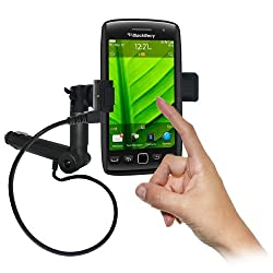 Amzer 93481 Lighter Socket Phone Mount with Charging and Case System for BlackBerry Torch 9860, BlackBerry Torch 9850