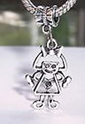 Pugs & Pandoras Little Girl Daughter Granddaughter Dangle Bead for European Style Charm Bracelet PP21209