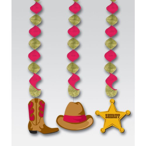 Western Dangling Cutouts (3 per package)