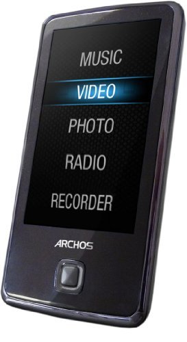 Archos Vision 30c 4 GB Video MP3 Player with 3-Inch Touchscreen and FM Radio (Silver)