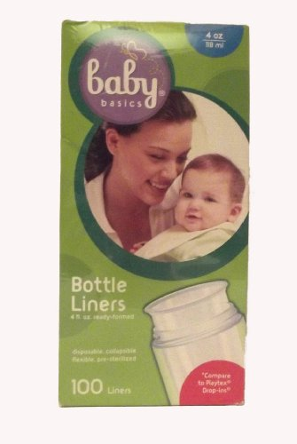 Baby Basice Bottle Liners - 4 oz, ready formed, disposable, collapsible, pre-sterilized - 1